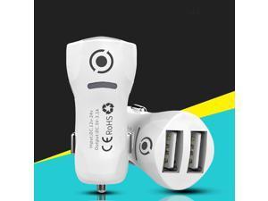 USB Car Charger Dual Port Adapter 5V 3.1A 2 Port 12-24V Cigarette Lighter Socket