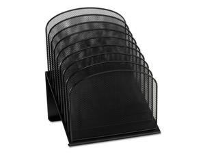 Safco Mesh Desk Organizer Eight Sections Steel Black 3258BL NEW