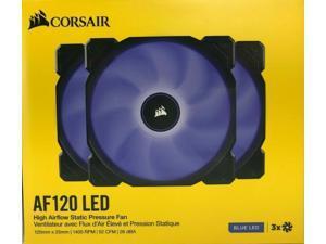 Corsair - AF120 - Blue LED High Airflow Static Pressure Fan 120mm - Pack of 3