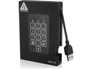 Apricorn Aegis Padlock Fortress 2TB Encrypted USB 3.0 Hard Drive with PIN Access