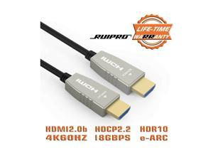 RUIPRO Fiber Optic HDMI Cable 20m, Supports HDMI2.0b,4K60HZ, 18Gbps Bandwidth...