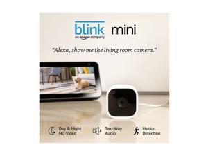 Blink Mini – Compact indoor plug-in smart security camera, 1080 HD video, mot...