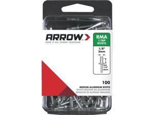 """10 Pk 1/8"""" x 1/4"""" Best Strong, Permanent, Tamper-Proof Aluminum Arrow IP Rivet"""