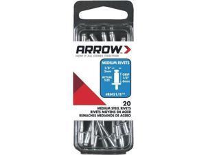 3 Pk 1/8 in. x 1/4 in. Best Strong, Permanent, Tamper-Proof Steel Arrow Rivet