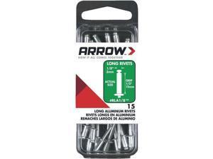 3 Pk 1/8 x 1/2 Heavy-Duty Strong, Permanent, Tamper-Proof Aluminum Arrow Rivet