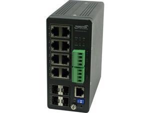 Transition Networks Managed Hardened PoE+ Switch SISPM1040-384-LRT-C