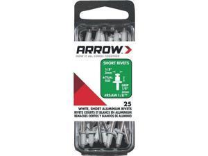 10 Pk 1/8 x 1/8 Best Strong, Permanent, Tamper-Proof White Aluminum Arrow Rivet