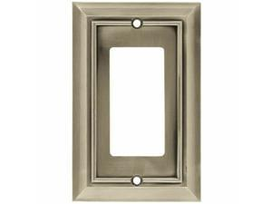Brainerd W10244-SN  Satin NIckel Architect Single GFCI Outlet Cover Plate