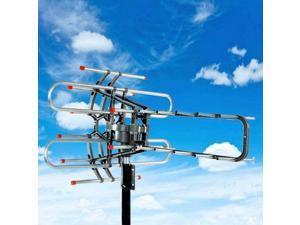 990 Mile HDTV Outdoor Amplified TV Antenna Digital HD 1080P 360 Rotor UHF/VHF/FM