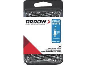 """3 Pk 1/8"""" x 1/4"""" Best Strong, Permanent, Tamper-Proof Steel Arrow IP Rivet"""