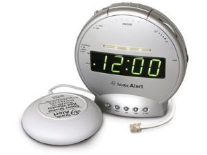 New Sonic Bomb Alarm clock with phone Sig and Vib SBT425SS 650518100039