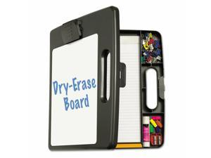 """Officemate Portable Dry Erase Clipboard Case 4 Compartments 1/2"""" Capacity"""