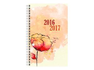 Blueline 2017 Weekly Academic Planner, July-July, Poly Cover, 8 x 5 inches, Watercolor (CA101PT.ASX-17)