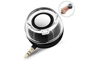 CestMall F10 Portable Compact Mini Speaker, Four Times of the Normal Volume, 3.5MM Audio Input, for iPhone Android Tablet Nevigation PSP MP3 MP4 Black