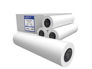 "Alliance CAD Paper Rolls, 24"" x 150, 96 Bright, 20lb - 4 Rolls Per Carton - Ink Jet Bond Rolls with 2"" Core"