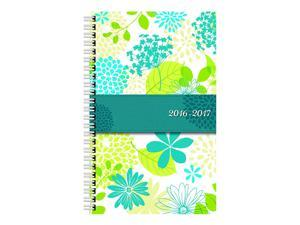 Blueline 2017 Weekly Academic Planner, July-July, Poly Cover, 8 x 5 inches, Blossom (CA101PS.ASX-17)