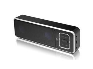 Aluratek ABS02F Portable Bluetooth Wireless Speaker/Speakerphone with Built-In Battery-Bluetooth Speakerphone - Packaging - Black