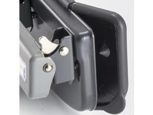 Officemate Contemporary Medium Duty 3-Hole Eco-Punch, 20-Sheet Capacity, Recycled, Black/Gray/Green (90132)