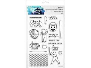 "Simon Hurley create. Cling Stamps 6""X9"" Home Run! 789541073895"