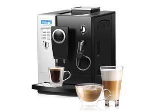 Costway Super-Automatic Espresso Machine Cappuccino Latte Maker 19 Bar w/ Milk Frother