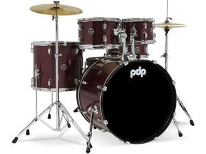 """PDP Centerstage 22"""" 5-Piece Complete - Ruby Red Sparkle"""