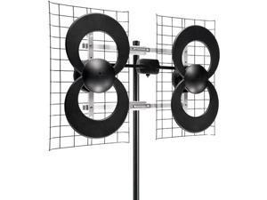 "Antennas Direct C4-CJM ClearStream 4 Quad-Loop UHF Outdoor Antenna with 20"" M..."