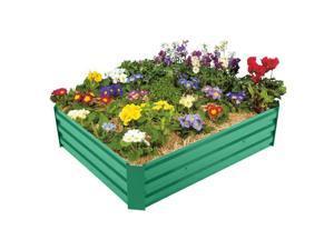48''x36''x12'' Metal Raised Vegetable Garden Bed Plant Box Growing Flowers Green