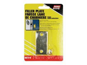 Prime-Line  Gold  Steel  Door Filler Plate  1 pk