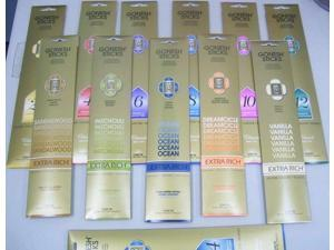 3x Packs Gonesh Incense Sticks Extra Rich 20 Stick Count  Variety Pack Love Musk