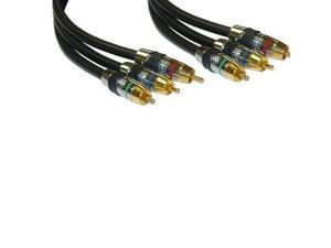 Eagle 3 FT 3 RCA Component Cable Male to Male High Grade Ultra Pro R/B/G Jumper