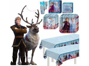 Frozen 2 Kristoff Basic Tableware Kit and Supplies for 16 Guests, Table Covers