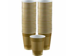 Gold Plastic Cup Party Pack 16 oz. 50 count per Pack for Large Events Tableware