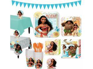 Moana Tableware Full Birthday Party Kit for 16 Guests Party Supplies Banner
