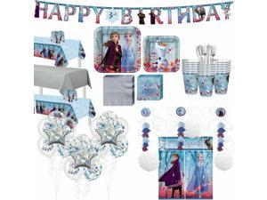 Frozen 2 Ultimate Party Kit for 24 Guests, Includes Tableware and Decorations