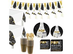 Celebrate the New Year Tableware Kit, 100 Guests, Party Supplies and Decor