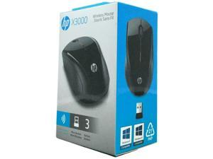 HP X3000 Wireless Mouse Black H2C22AA#ABL Includes AA Battery and USB Receiver