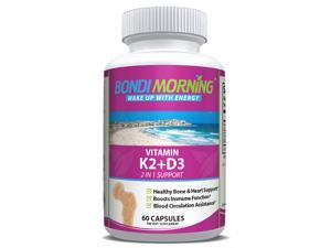Vitamin K2 + D3 Supplement for Bone & Heart Health - 60 Capsules