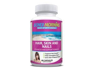Hair Skin and Nails Formula, Folic Acid and Biotin Supplement - 60 Capsules
