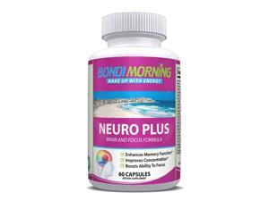 Neuro Plus Brain Booster Formula, Nootropic Supplement - 60 Capsules