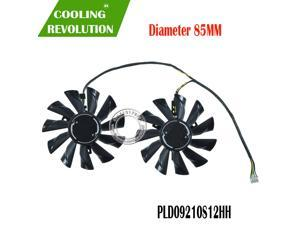 New Original for MSI GTX950 GTX960 GTX970 R9 370 R9 380 R9 285 Graphics card cooling shell and fan