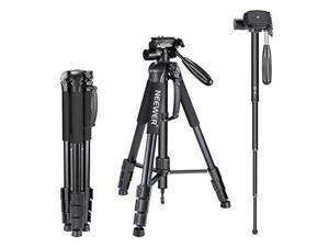 Neewer Portable 70 inches/177 centimeters Aluminum Alloy Camera Tripod Monopod with 3-Way Swivel Pan Head,Bag for DSLR Camera,DV Video Camcorder,Load up to 8.8 pounds/4 kilograms