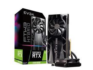 EVGA GeForce RTX 2080 Super FTW3 Hybrid Gaming, 08G-P4-3288-KR, 8GB GDDR6, RGB LED Logo, iCX2 Technology, Metal Backplate