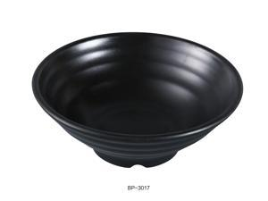 "Yanco BP-3017 Black Pearl-2 Bowl, 16oz Capacity, 7"" Diameter, 2.75"" Height, Melamine, Black Color with Matting Finish, Pack of 24"