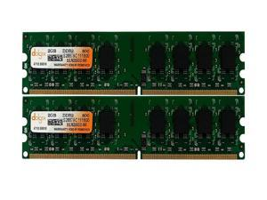 DOLGIX 4GB (2x2GB) DDR2 800MHz DIMM PC2-6400 1.8V 240-Pin Desktop RAM Memory Module Upgrade Kit