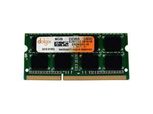 DOLGIX 8GB DDR3 1600MHz SODIMM PC3-12800 2Rx8 Dual Rank 1.35V 204-Pin Notebook Laptop RAM Memory Module Upgrade