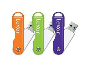 LEXAR LJDTT8GB-000-114  8GB USB 2.0 FLASH DRIVE JUMP DRIVE TWIST TURN USB ORANGE COLOR
