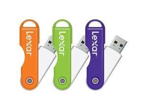 Lexar USB  JumpDrive TwistTurn 8 GB Flash Drive - USB 2.0  LJDTT8GB ORANGE -000-305