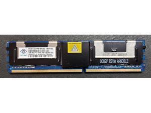 Nanya 2GB 667MHz DDR2 2RX4  PC2-5300F-555-11-E2  ECC Registered 240-Pin Dual Rank EUDIMM  Dell Server Memory NT2GT72U4NB1BN-3C