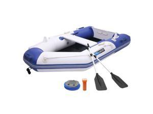 New 7.5ft Iatable Water Sports Tender Rafting Fishing Dinghy Boat Blue