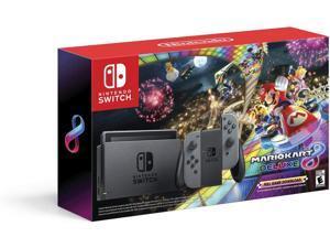Nintendo Switch w/ Gray Joy-Con + Mario Kart 8 Deluxe (Full Game Download) - Switch